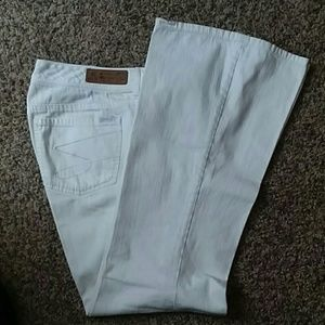 Seven7 white flared jeans. Sz 12 Summer! Cute!